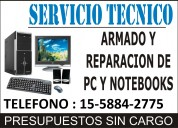 Tecnico de pc y notebooks a domicilio en flores