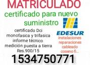 electricista matriculado berazategui tel.153475077