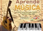 Clases de canto, guitarra, piano y repertorio