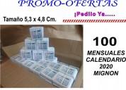 Mensual mignon 2020 tamaÑo 5,3x4,8 cm distribuidor