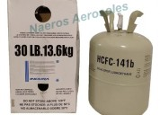Gas 141b garrafa descartable 13.6kg refrigerante l