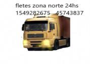 Fletes mudanzas zona norte 24hs 4574-3837