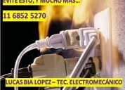 Electricista, tec. electromecánico