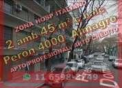 Departamento en venta en almagro hospital italiano 2 ambientes 45 m2 con balcon al contrafrente 1 do