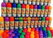 Serpentinas en aerosol caja x24 cotillon colores