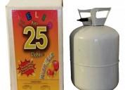 Gas helio para globos garrafa para 25 globos
