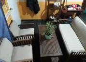 juego de sillones de jardín eucalipto