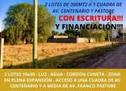 Terrenos en venta excelente ubicacion escritura y financiacion en la capital