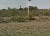 Campo con proyecto de parque solar