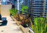 Palermo belgrano impecable piso alto 60 m2 18 m2 balcon terraza luz y sol 1 dormitorios