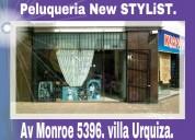 Peluqueria,unisex,en villa urquiza,monroe 5396.