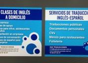 Servicios de traducción y capacitación en inglés