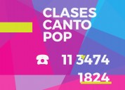 clases canto pop on line