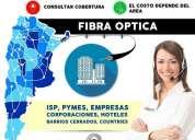 Internet dedicado fibra optica en todo argentina