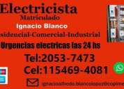 Electricista matriculado en ramos mejia urgencias las 24 hs
