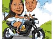 Caricaturas por foto para todo el pais.