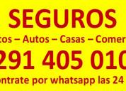 Vendo seguros para motos - autos - camiones consul