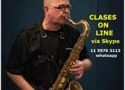 Clases de saxo en cuarentena on line