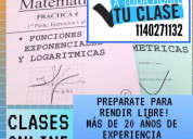 Clases particulares online de matematica para cbc