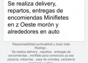 Se realiza repartos delibery mensajería en auto