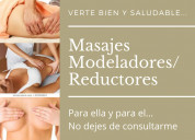 Masajes reductores / modeladores