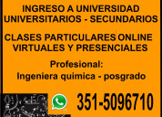 Clases online virtuales. cordoba. quimica fisica
