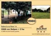 Casa 2 ha sobre ex ruta 14 100 consulte precio campo en venta en concepción del uruguay