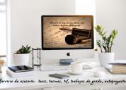 AsesorÍa: tesis, tesinas
