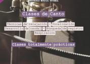 Clases de canto en capital federa y online
