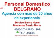 Agencia de personal domestico/mucamas belgrano
