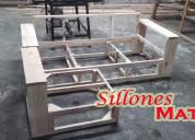 Esqueleto estructura sillon 3 cuerpos + camastro