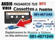 Digitalizacion cintas video y audio dvd mp3
