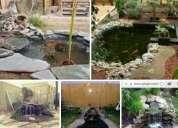 Estanques cascadas fuentes