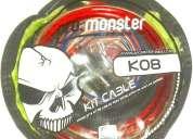 Monster kit instalacion potencia 8 gauge. contactarse.