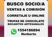 Busco socio/a venta chocolates artesanales