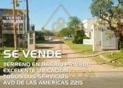 Se vende terreno en barrio privado 10 35 en paraná
