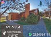 Importante casa en barrio silvetti en general roca