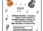 Clases particulares de iniciacion musical y guitar