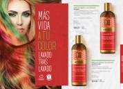 Shampoo y acondicionador para cabellos teñidos, ma