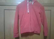 Campera polar con capucha color roja para niños- m