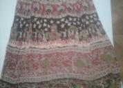 Vendo pollera falda larga bagru india-excelente n
